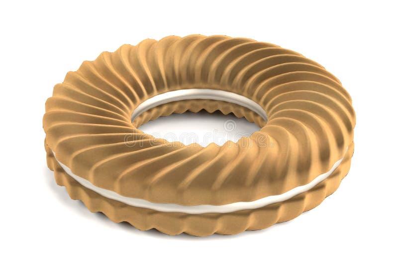 3d представляют печенья бесплатная иллюстрация