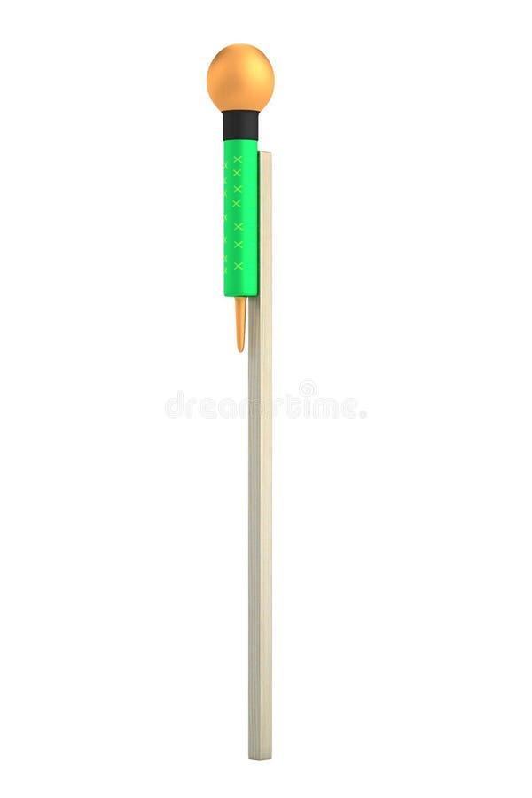 3d представляют ракеты иллюстрация вектора