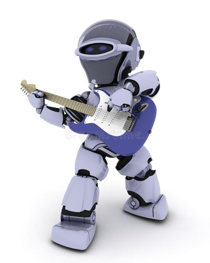 Робот играя гитару бесплатная иллюстрация