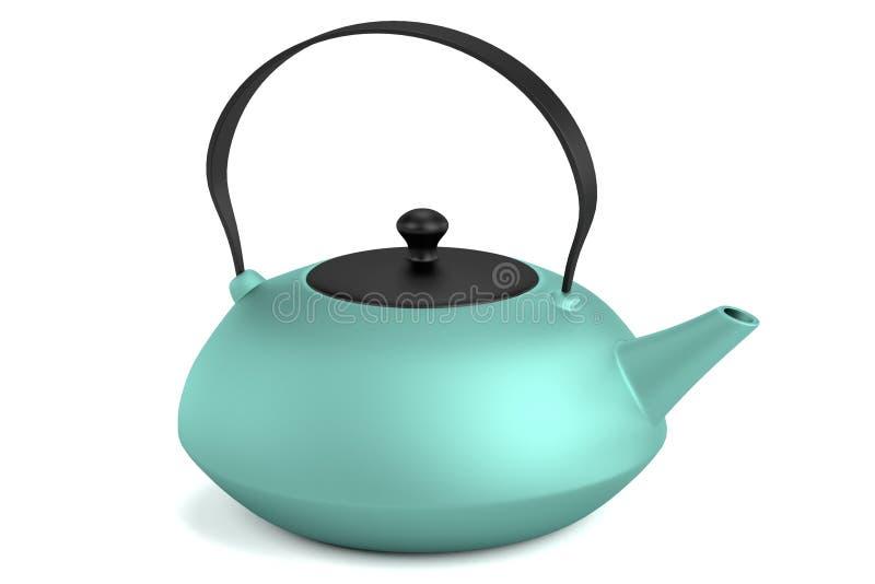 3d представляют чайника иллюстрация штока