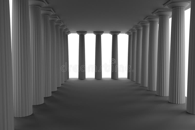 3d представляют doric виска иллюстрация штока