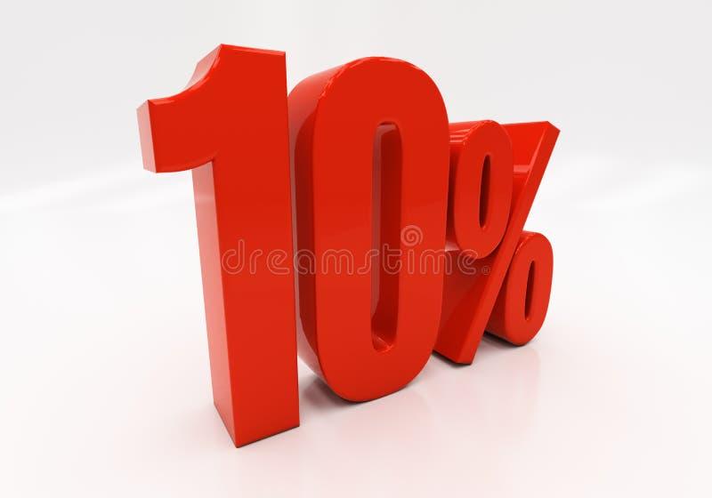 3D 10 процентов стоковое изображение