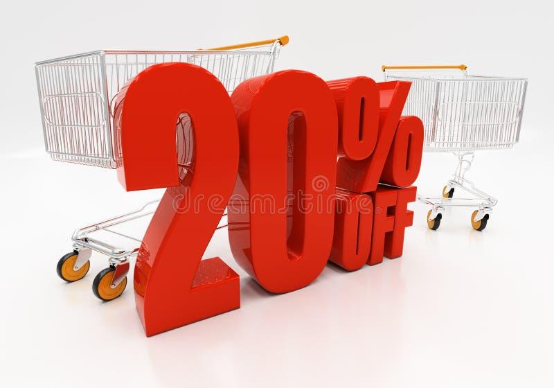 3D 20 процентов стоковое изображение rf