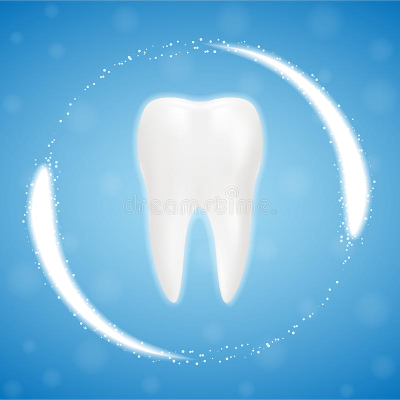 3d реалистический чистый зуб, освобождаясь процесс зуба зубы забеливая Зубоврачебная принципиальная схема здоровья Устная забота, бесплатная иллюстрация