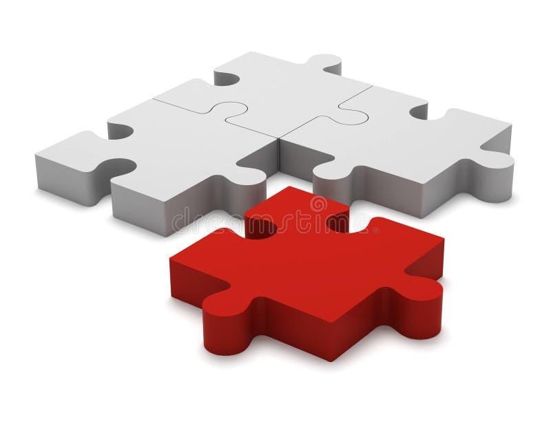 3d соединяет головоломку Отверженец концепции бесплатная иллюстрация