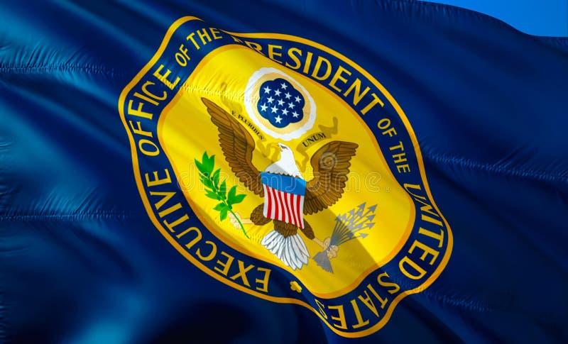 3d флаг США развевая дизайн флага 3D Национальный символ США, перевод 3D Национальный символ президента Соединенных Штатов стоковые фотографии rf