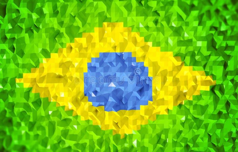 Download 3d флаг lowpoly Бразилии иллюстрация штока. иллюстрации насчитывающей зодчества - 41660767