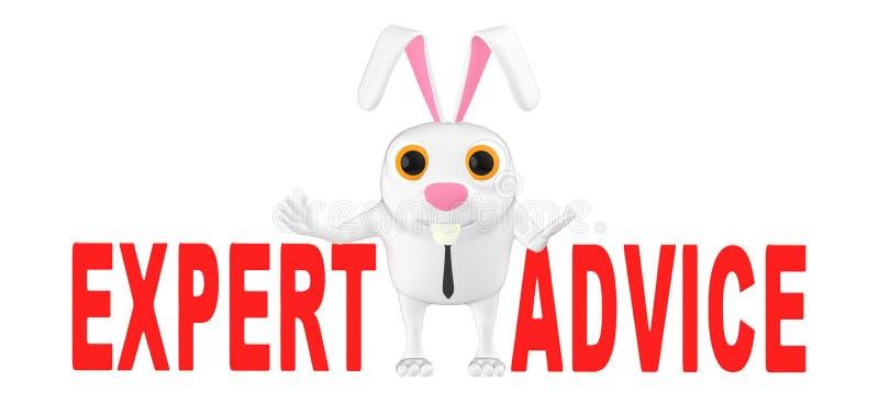 3d характер, кролик - экспертное заключение бесплатная иллюстрация