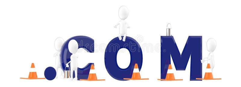 3d характер, человек, команда com, конусы движения, красить характеров бесплатная иллюстрация