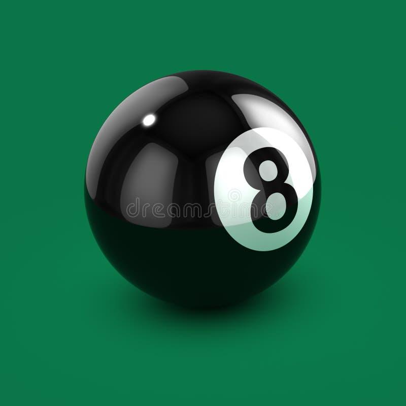3d шарик черноты 8 бесплатная иллюстрация