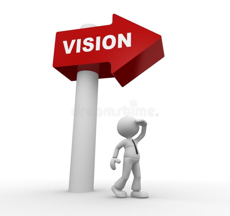 Зрение иллюстрация вектора