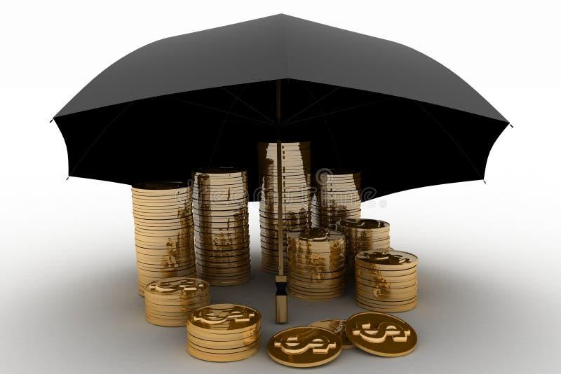 3d财务例证保护回报 向量例证