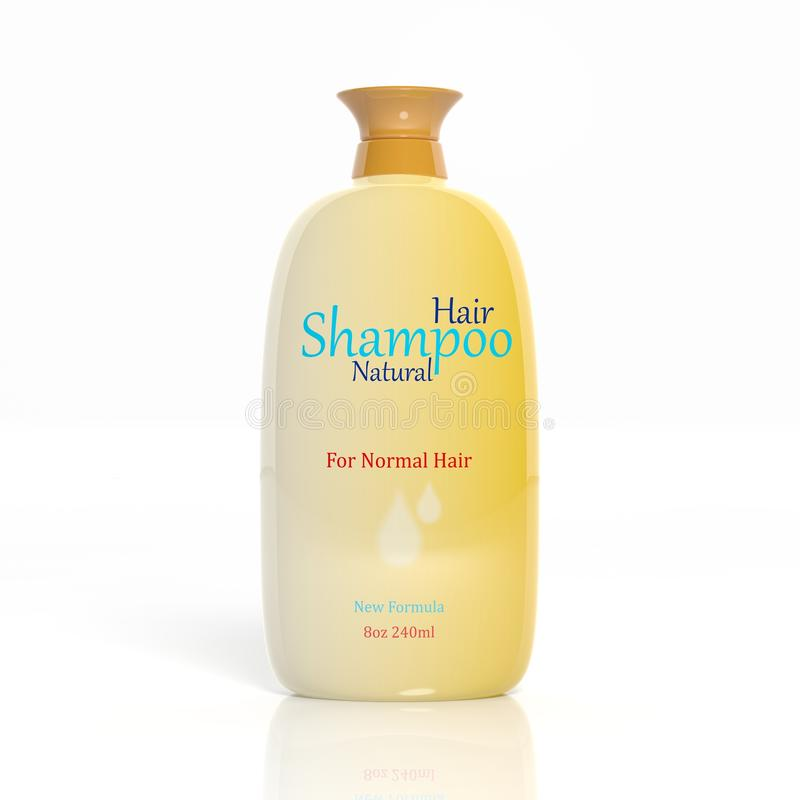 3D头发香波塑料瓶 库存例证