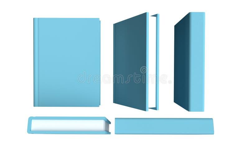 设置在白色背景的书 3d?? 库存例证