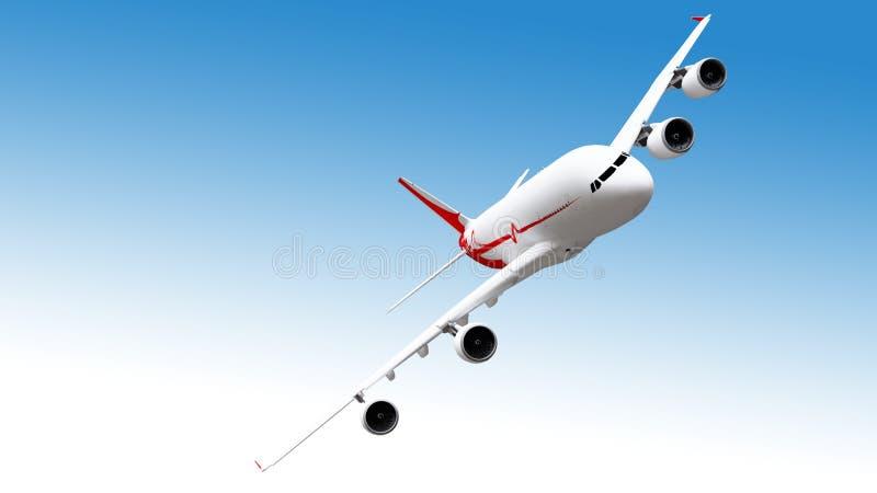 3d?? 在白色背景隔绝的飞机 库存例证