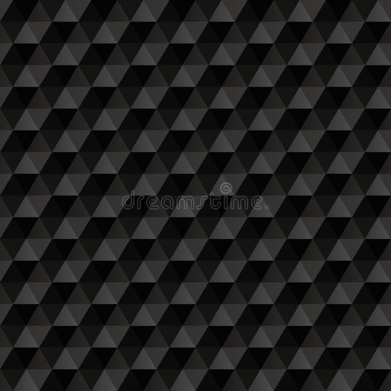 3d黑抽象背景 几何无缝 向量例证