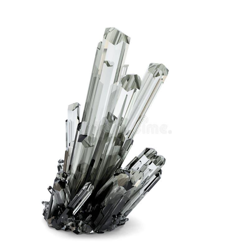 3d水晶例证 包含裁减路线 库存例证