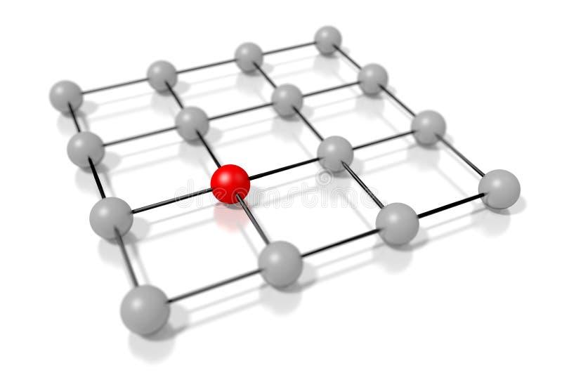 3D结构概念 皇族释放例证
