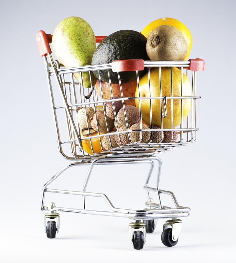 3d购物车被生成的图象购物 免版税图库摄影