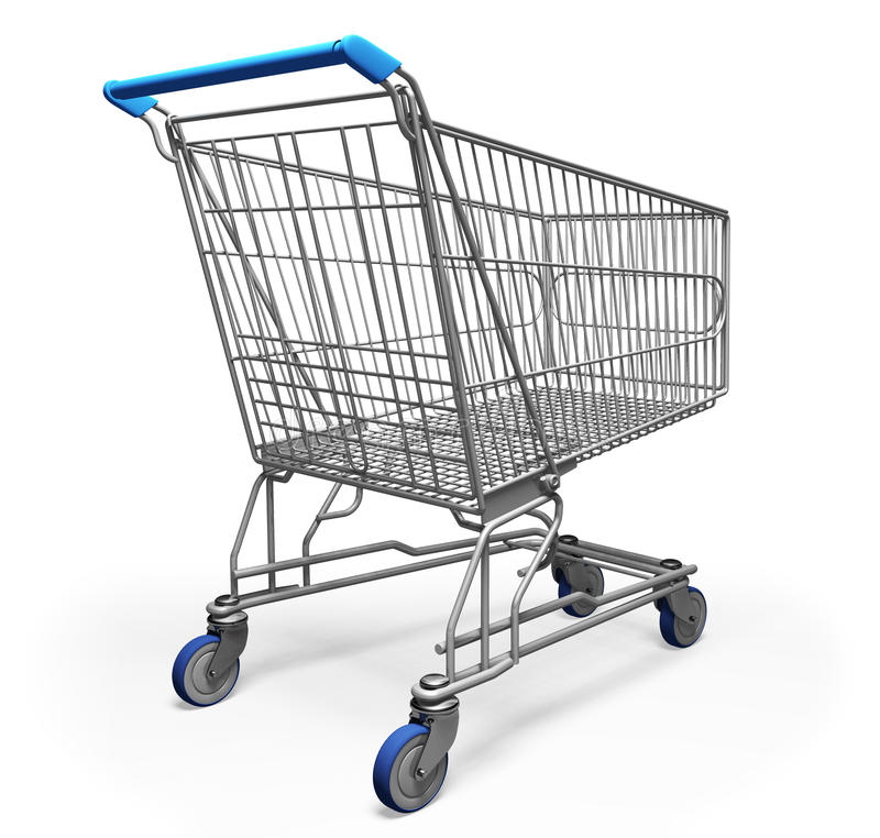 3d购物车购物 库存例证
