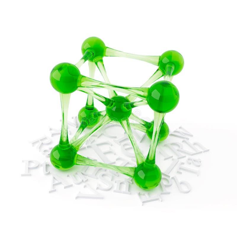 3D从玻璃的对象在白色 免版税库存图片