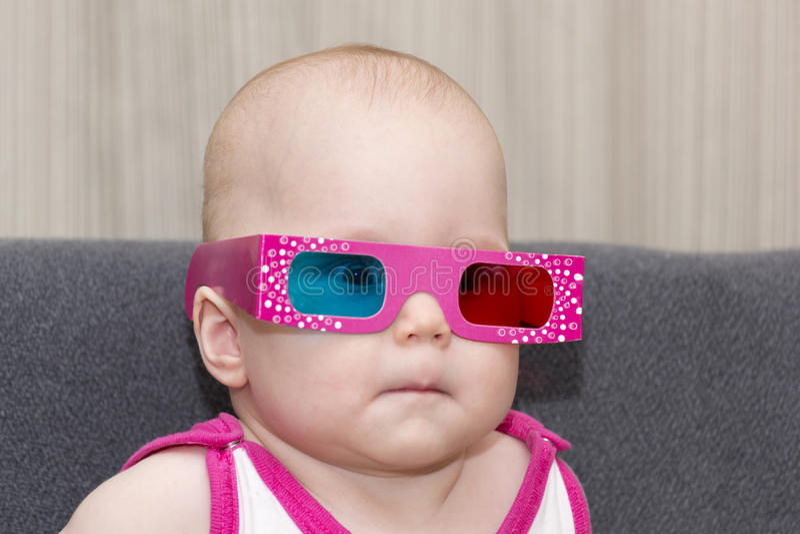 3D玻璃的婴孩 免版税库存图片