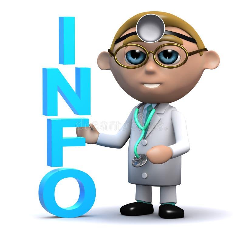3d医生有信息 向量例证