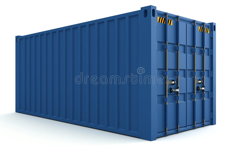 Download 3D货箱的例证在白色隔绝的 库存例证. 插画 包括有 金属, 发运, 后勤, 回报, 查出, 运费, 支架 - 72353933