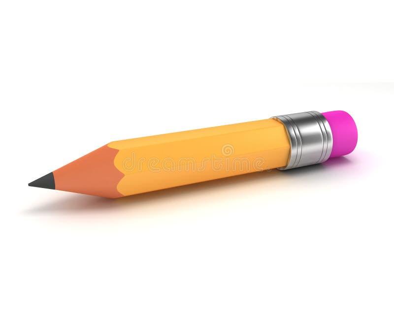 3d黄色铅笔 皇族释放例证