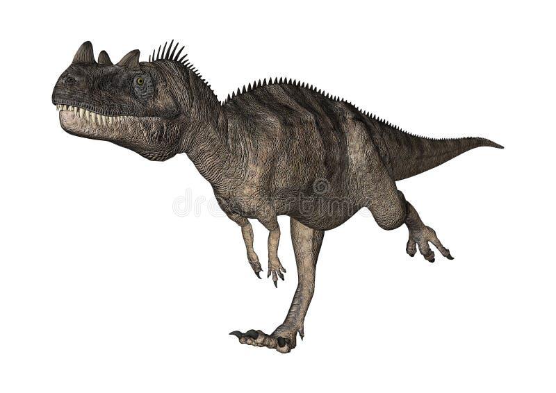 3D翻译在白色的恐龙角鼻龙 向量例证