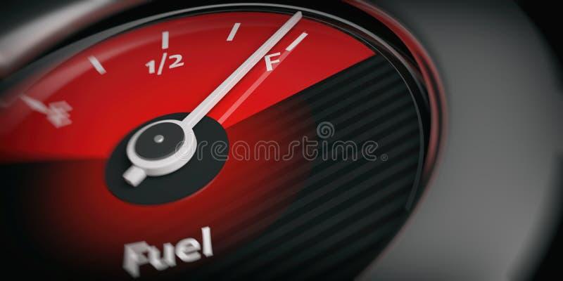 3d翻译汽车充分显示燃料 向量例证