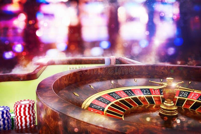 3D翻译赌博娱乐场轮盘赌 免版税库存照片
