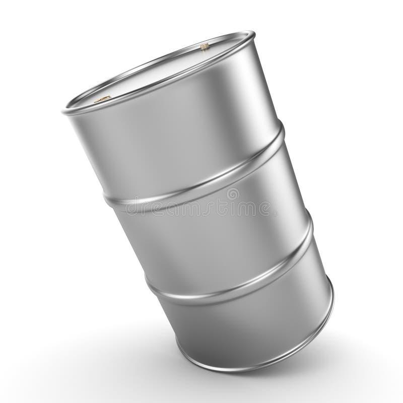 3D翻译铝桶 库存例证