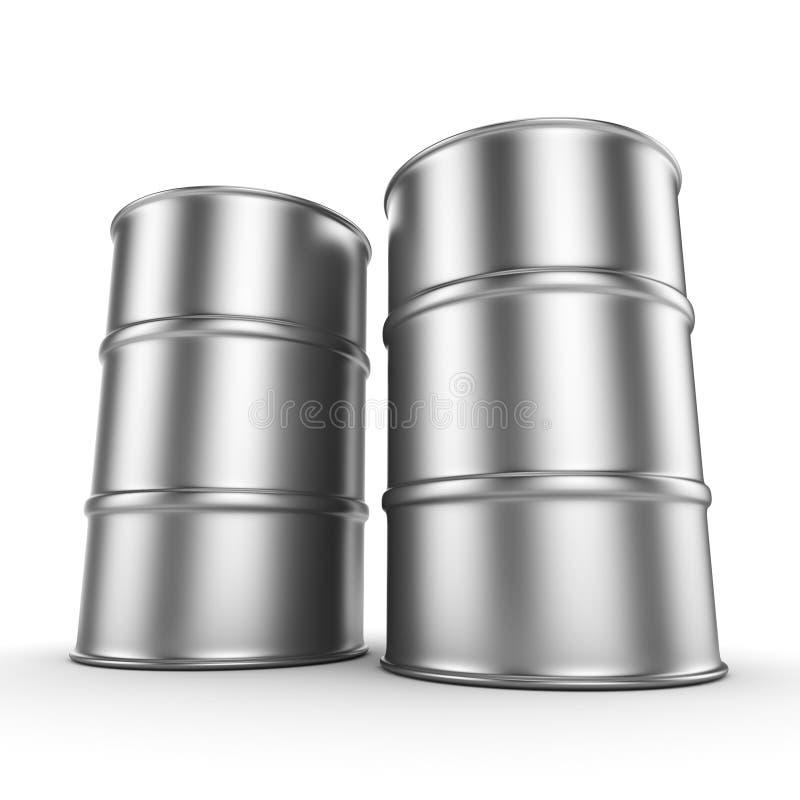 3D翻译铝桶 皇族释放例证
