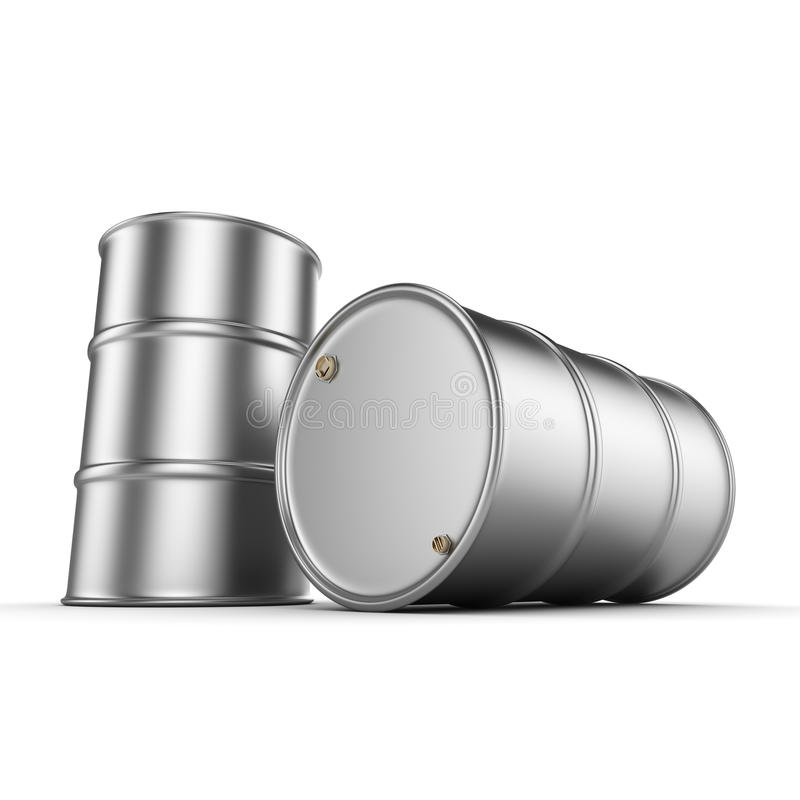3D翻译铝桶 向量例证