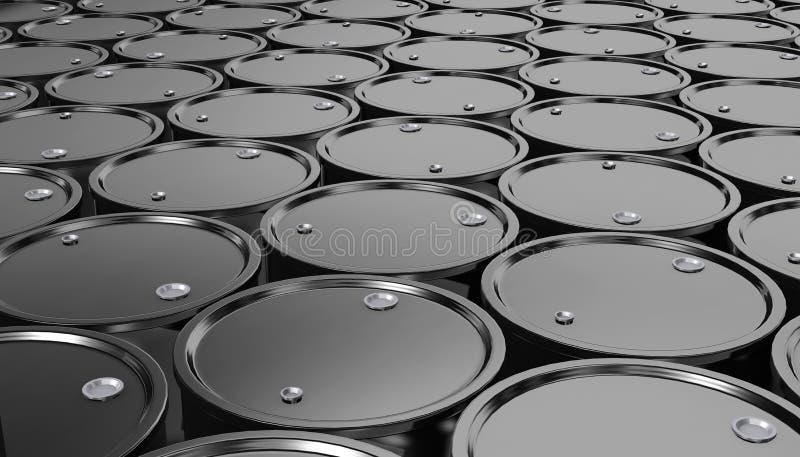 3D黑金属油桶背景的例证 皇族释放例证