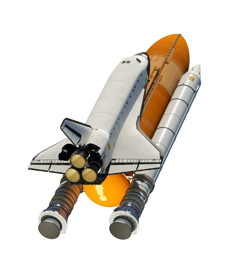在白色背景隔绝的美国航天飞机 库存例证
