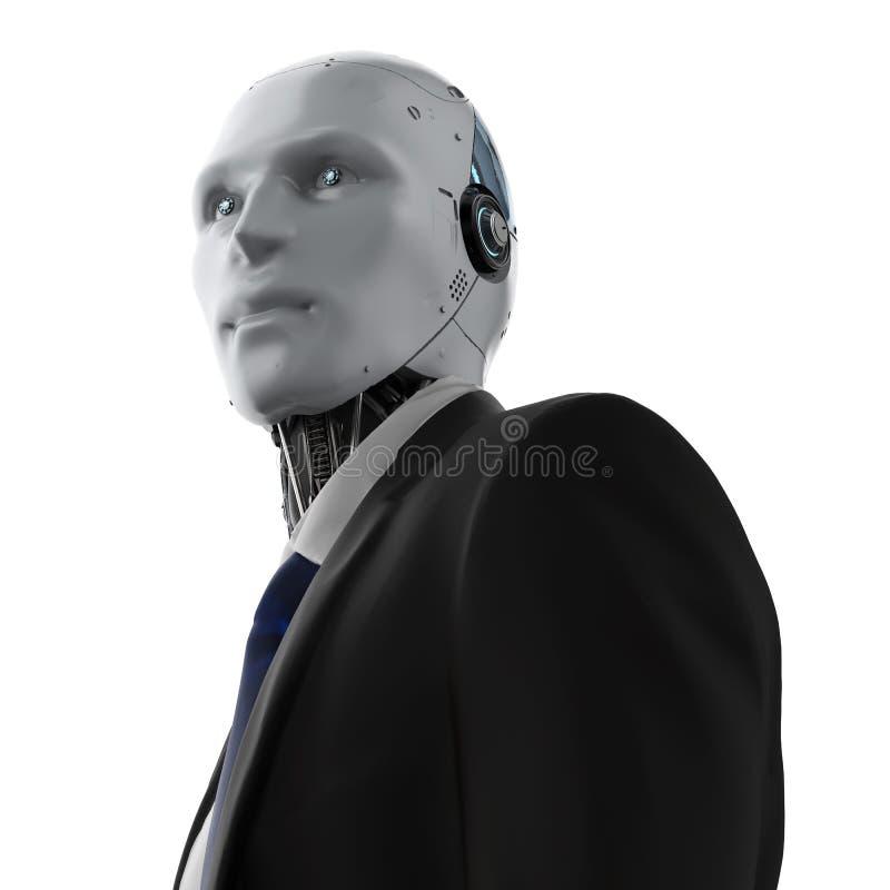 被隔绝的机器人商人 皇族释放例证