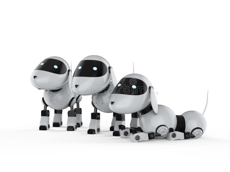 Группа в составе роботы собаки