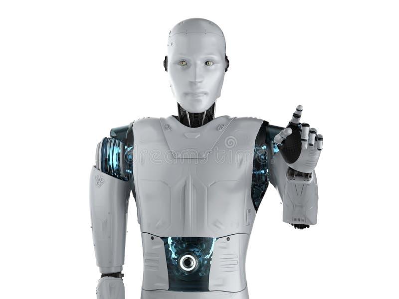 _机器人手指点 向量例证