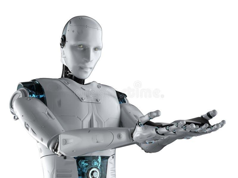 Рука робота открытая иллюстрация вектора