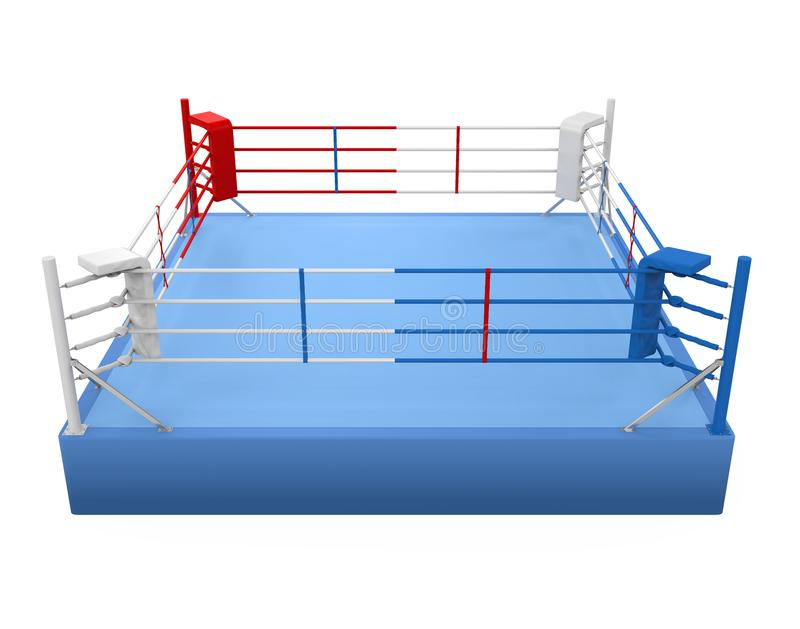Изолированный боксерский ринг иллюстрация вектора