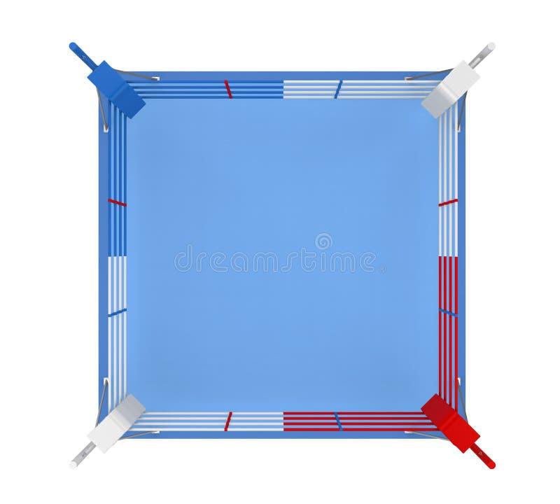 Изолированный боксерский ринг иллюстрация штока