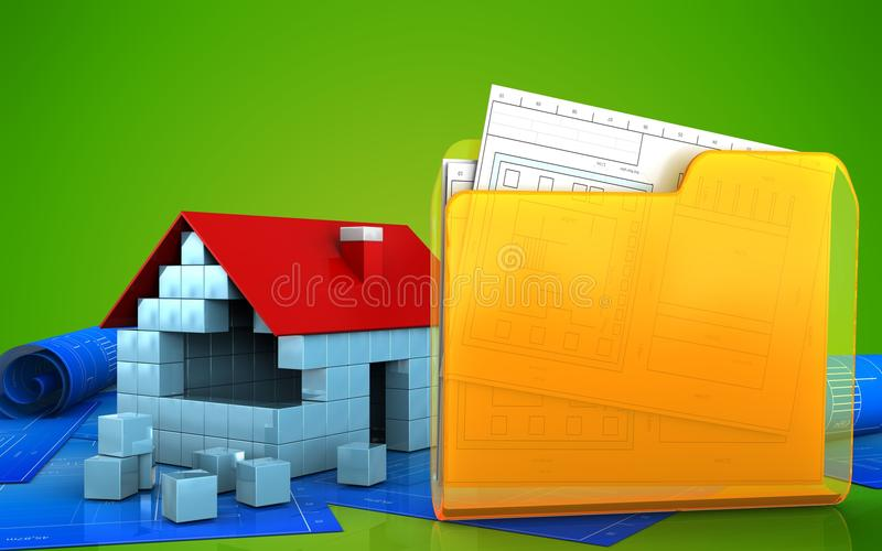 3d stock illustratie
