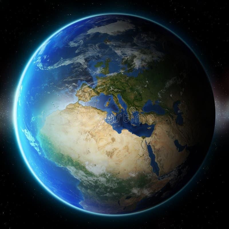 3D Aarde Elementen van dit die beeld door NASA wordt geleverd andere royalty-vrije illustratie