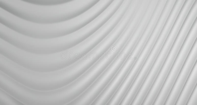 3D Abstract Background of Grey White Curve Lines, illustration royalty free illustration