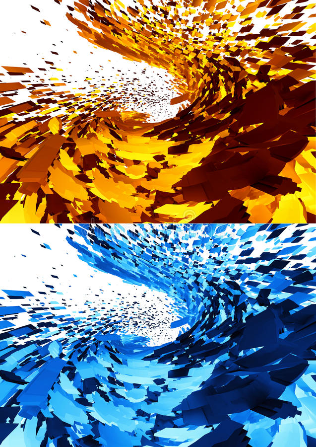 3D abstract backgrounds royalty free illustration