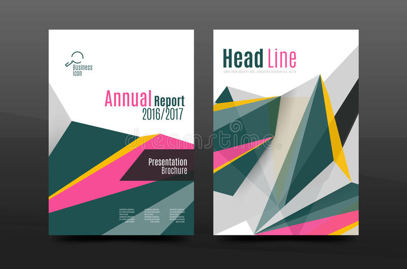 3d abstract geometric shapes. Modern minimal composition. Business annual report cover design. Vector abstract background stock illustration