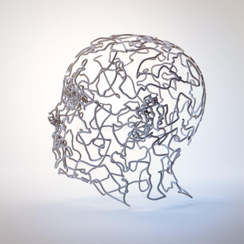 3D abstract hoofd vector illustratie
