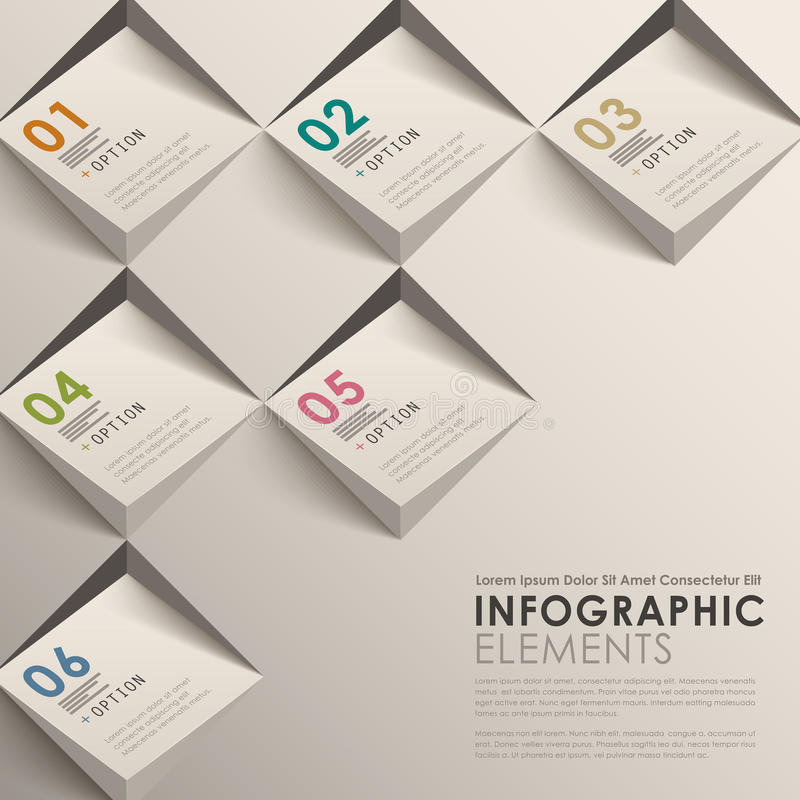 3d abstract infographics stock illustration